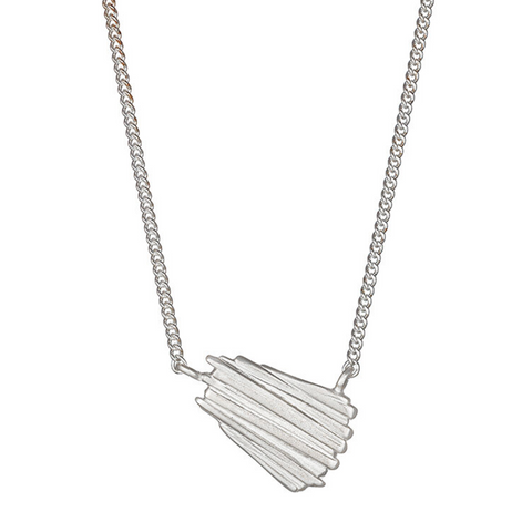 Silver dune necklace