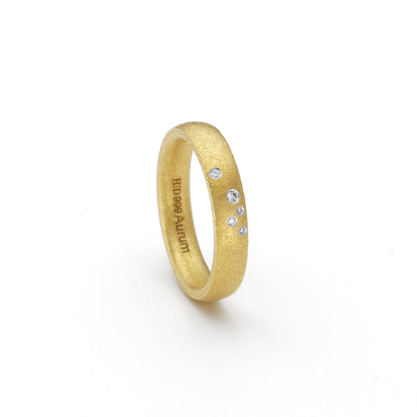 Tumbled Gold Ring