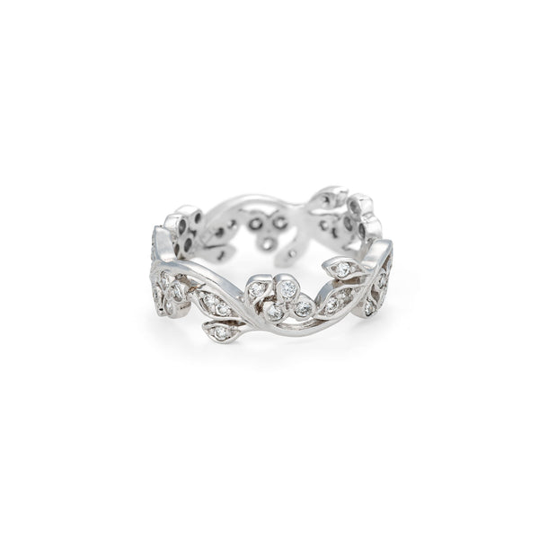 Diamond Set Floral Ring