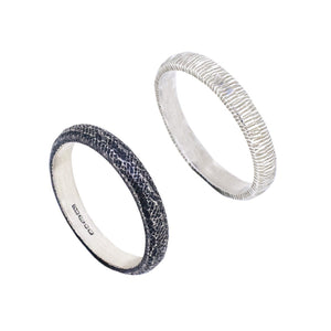 Textured Silver Rings