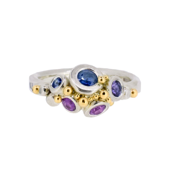 Purple and Blue Sapphire Ring