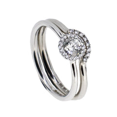 18ct White Gold Ring Set