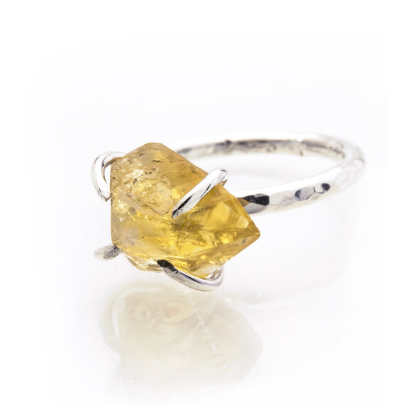 Citrine Rock Ring