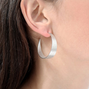 Icarus Large Hoop Earrings in Silver