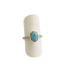 Silver and Opal ring