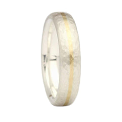 Silver and Gold Inlay Ring