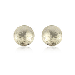 Large Moon Disc Earrings