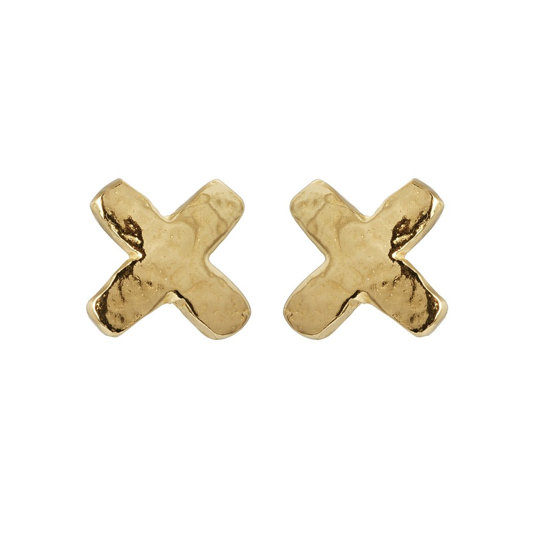 Little Kiss Studs Gold