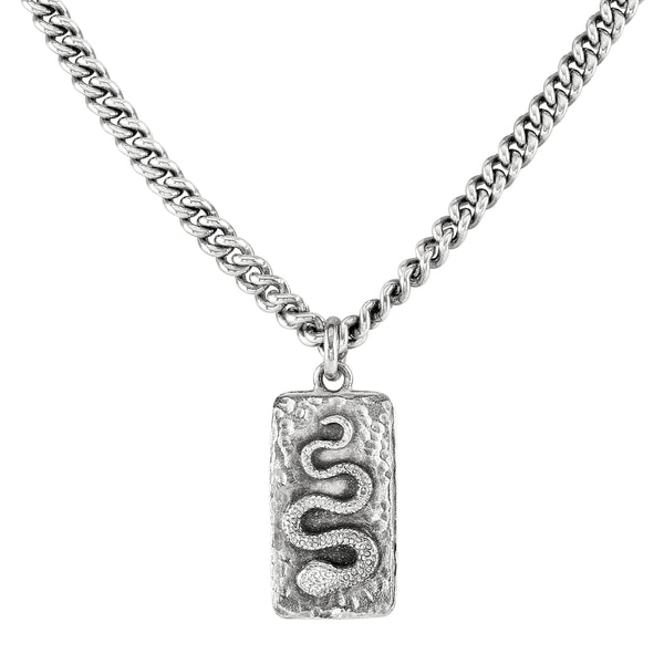 Silver Medusa Necklace