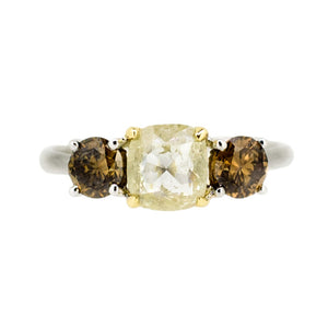 Mixed Diamond 18ct yellow and white gold ring
