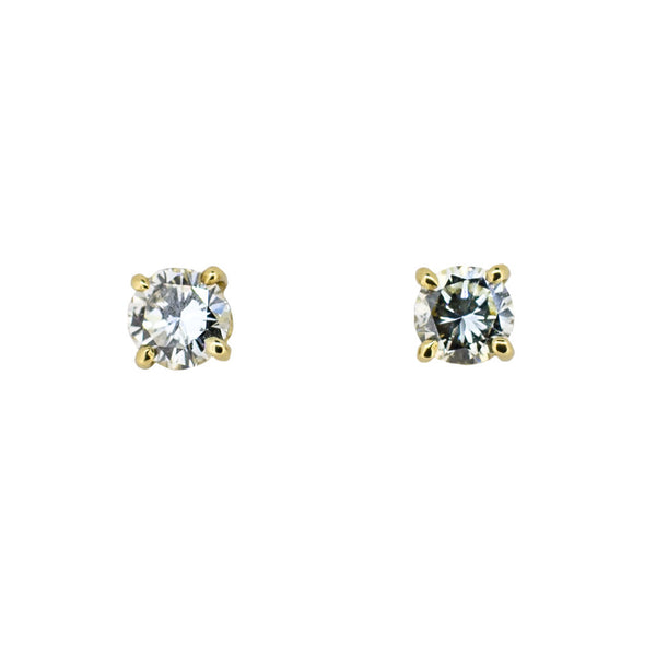 18ct Gold and Yellow Diamond Earrings