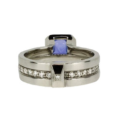 18ct White Gold Ring with Tanzanite & Diamonds