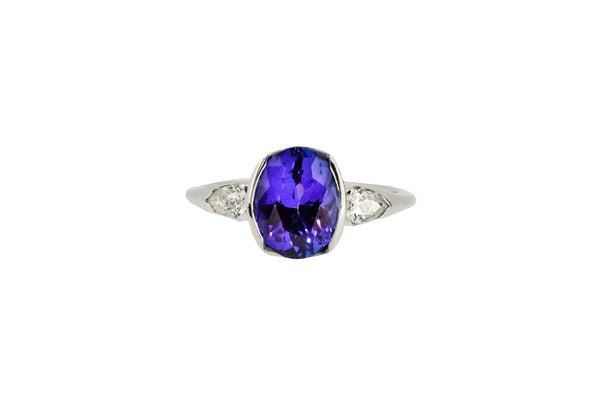 18ct White Gold, Diamond & Tanzanite Ring