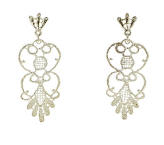 Silver Filigree Dangly Earrings