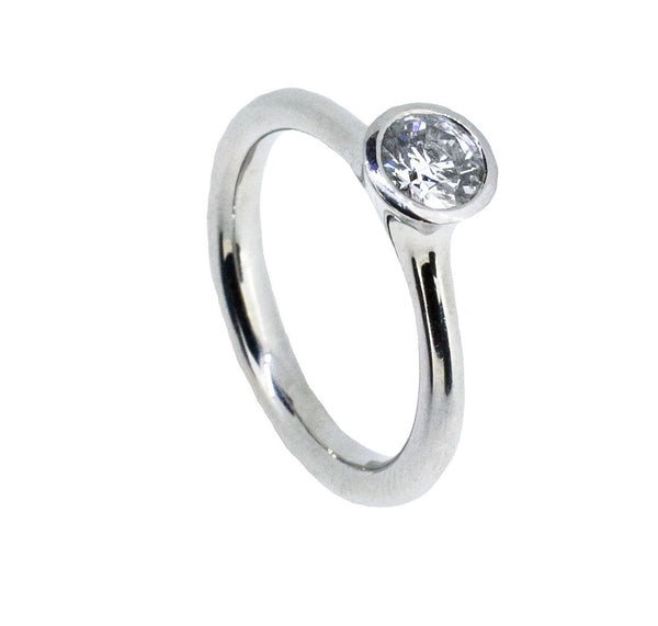 Platinum Solitare Ring