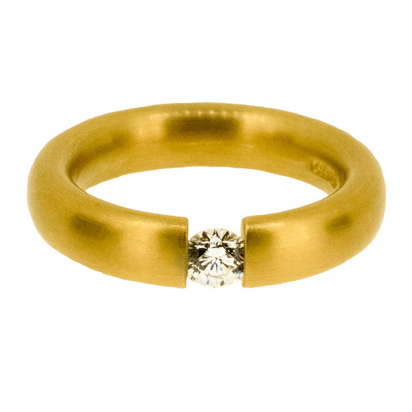 18ct Yellow Tension Ring