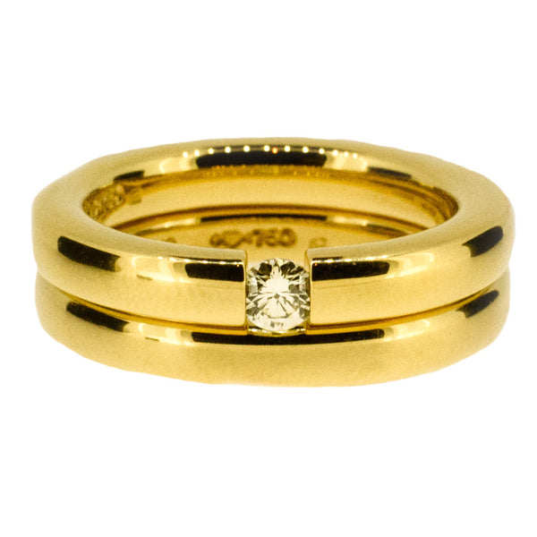 18ct Gold Engagement and Wedding Ring Set