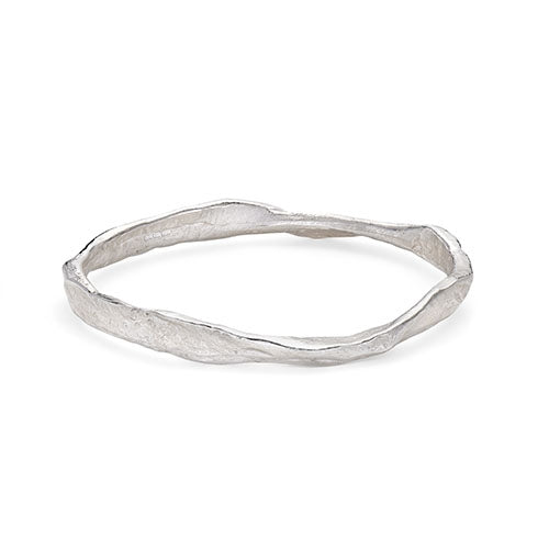 Rock Bangle in Silver