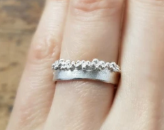 Silver Froth Ring