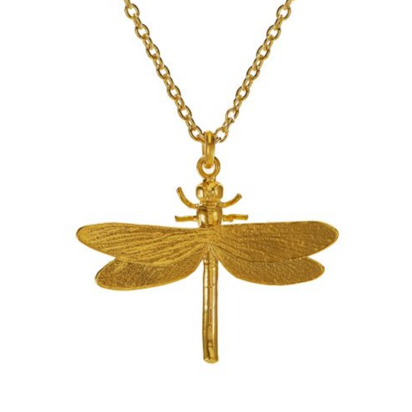Gold Plated Dragonfly Necklace