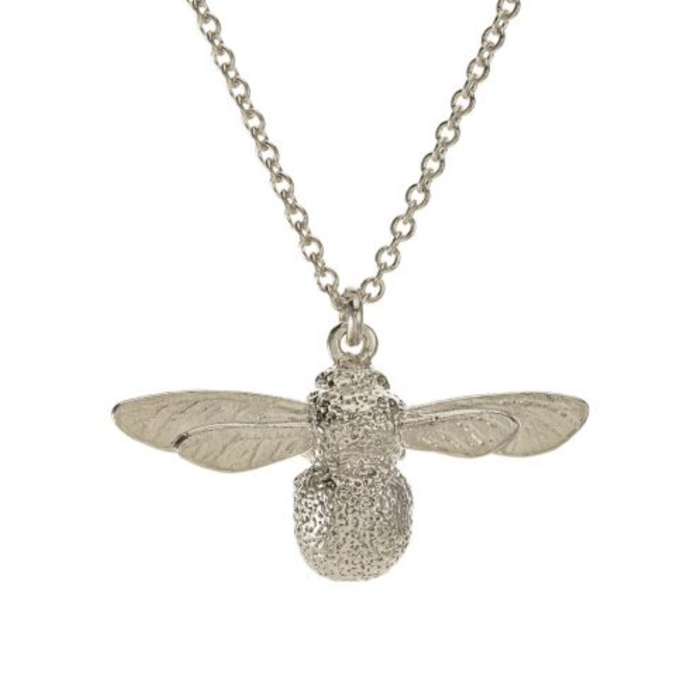Silver Baby Bumblebee Necklace