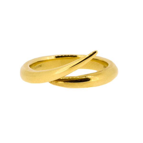 18ct Yellow Gold Interlocking Ring