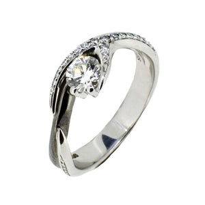 18ct White Gold Solitare Ring