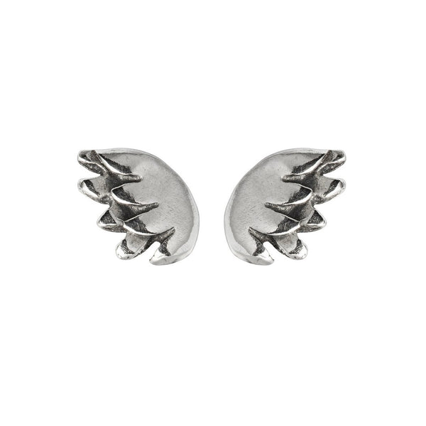 Silver Tiny Wing Earrings