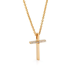 Yellow Gold Cross Pendant Necklace