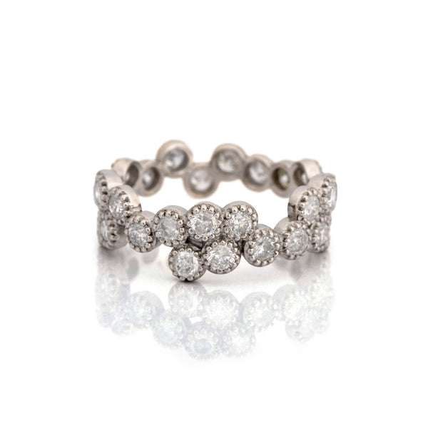 Fiori Eternity Ring with Rustic Diamonds