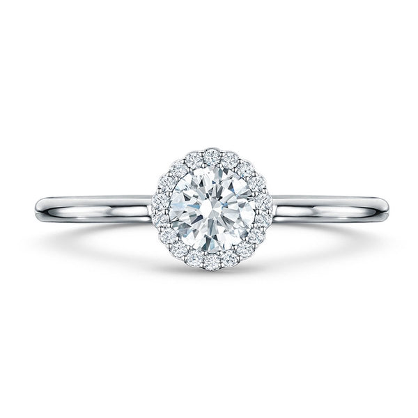 Cannelé Diamond Engagement Ring