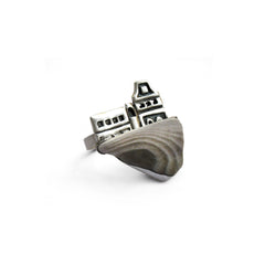 Silver & Flint Architectural Ring