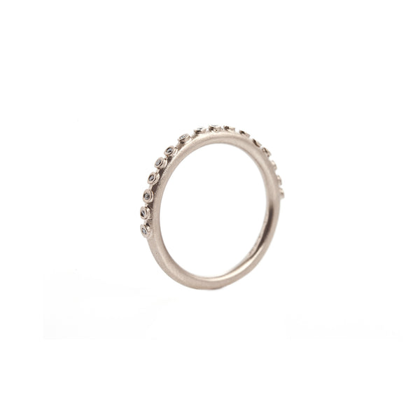 Mini Bud Eternity Ring - White Gold & Diamonds