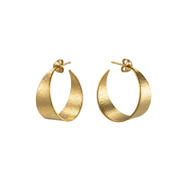 Icarus Medium Hoop Earrings in Gold