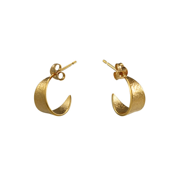 Icarus Small Hoop Earrings in Gold