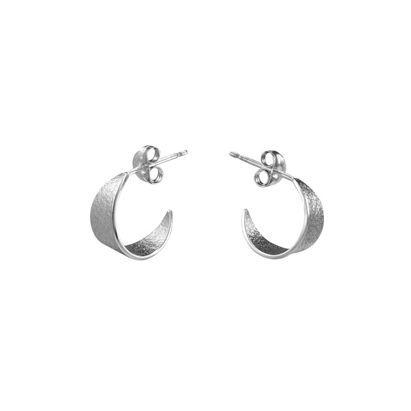 Icarus Small Hoop Earrings in Silver