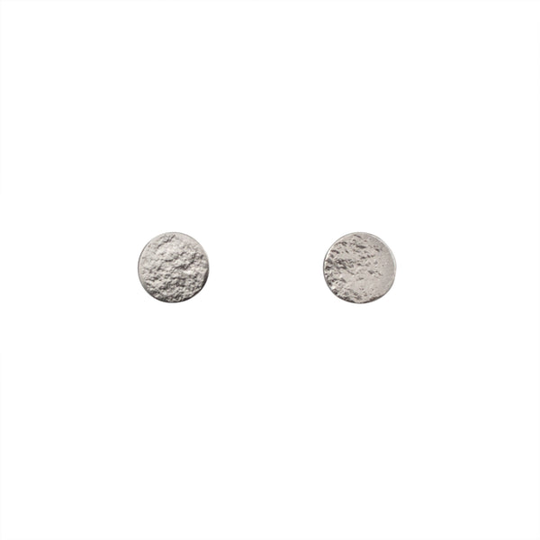 Paillette Medium Stud Earrings in Silver