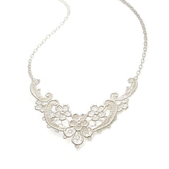 Lulu Silver Lace Necklace