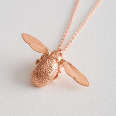 Rose Gold Bumblebee Necklace