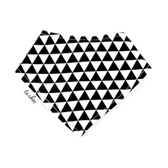 Chief Bib - Black & White Triangles