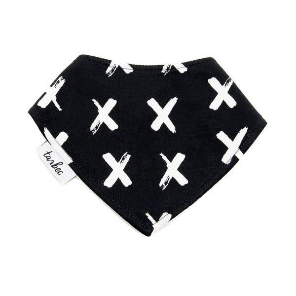 Chief Bib - Painted Crosses B&W