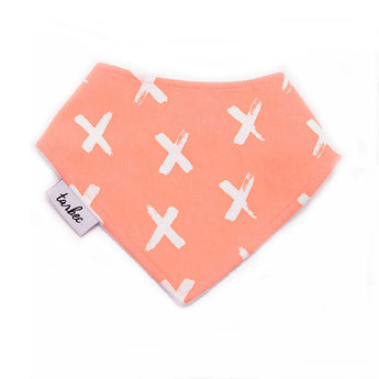 Chief Bib - Painted Crosses Peach