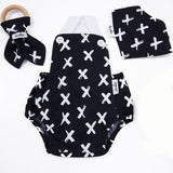 Jumpsuit - Painted Crosses B&W