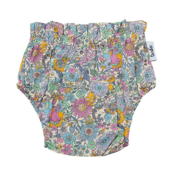 Girls Nappy Cover - Boho Floral Purple