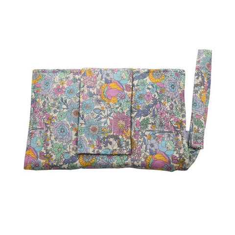 Nappy Wallet with Change Mat - Boho Floral Purple