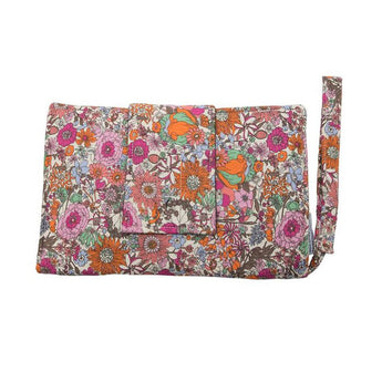 Nappy Wallet with Change Mat - Boho Floral Pink