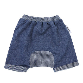 Slouch Shorts - Navy Stripe