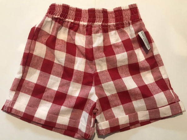 Shorties - Red and White Gingham