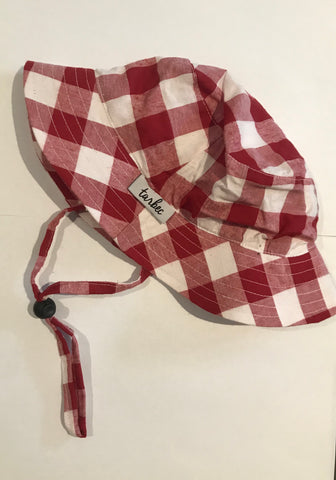 Bucket Hat - Red and White Gingham