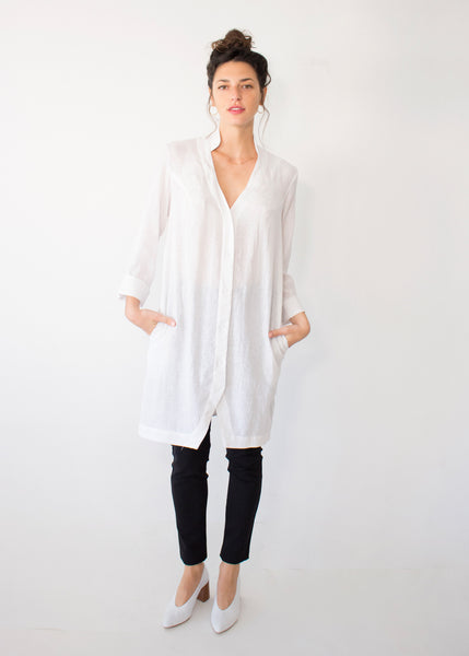 BUTTONED TUNIC WHITE